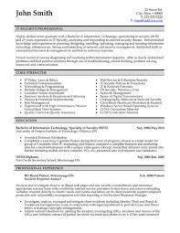Resume Exampls by It Resume Samples 22 Information Technology It Resume Example