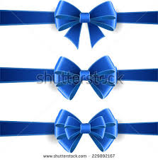 blue bows set blue bows isolated on white stock vector 229892167