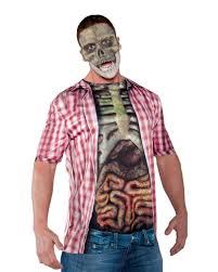 skeletal torso shirt intestines bloody horrorshrit for halloween