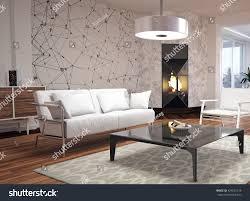 modern interior design living room 3d stock illustration 424535128 modern interior design of living room 3d illustration 3d rendering
