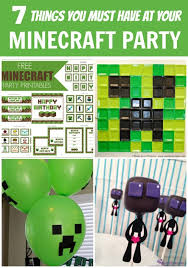 7 things you must have at your minecraft party minecraft festa
