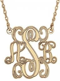 customizable jewelry alison traditional monogram personalized necklace 40mm