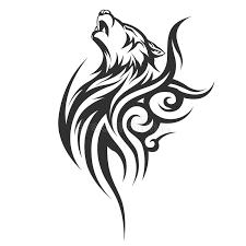 tribal wolf designs stock vector illustration of design