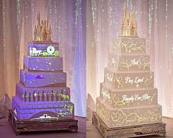 you can now get disney wedding cakes with light shows on them