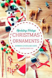 peachy cheek updating vintage christmas ornaments