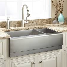 double sinks kitchen 33 archer 70 30 offset double bowl stainless steel farmhouse sink