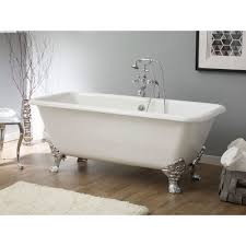spencer cast iron 67 inch clawfoot bathtub with continuous rolled