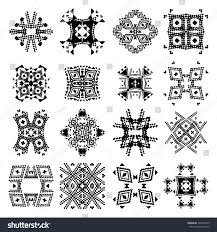 vector set tribal black white decorative stock vector 342220433