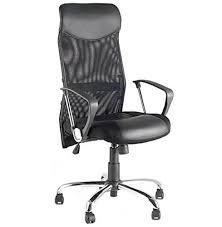 bureau noir design fyi fauteuil de bureau noir design en similicuir et métal chromé