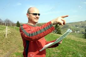 Black Forest Germany Map Man Looking A A Map In Black Forest Germany Stock Photo Picture