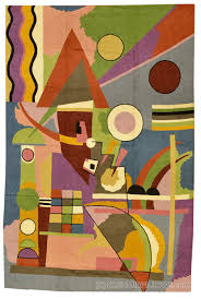 Modern Colorful Rugs Kandinsky Abstract Colorful World Wool Rug Wall Tapestry
