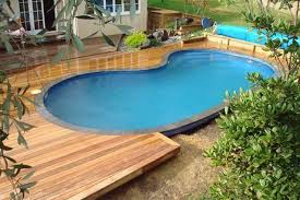 wooden decks around small above ground pools outdoor pinterest