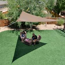 Shade Backyard Medium Breathable Triangle Sail Sun Shade Free Shipping On