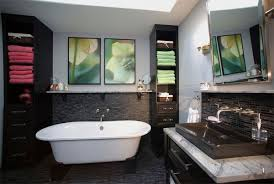 Be Inspired To Paint Your Bathroom Vanity A Non Neutral Color - Floor to ceiling bathroom vanity