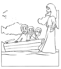 bible coloring pages peter walking on watercoloring printable new