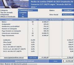 media jornada empledo de comercio 2016 empleados de comercio liquidación de vacaciones 2015 ejemplo