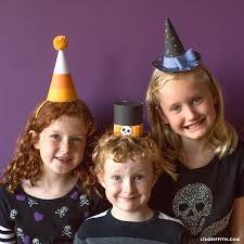 printable halloween party hats lia griffith