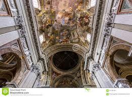 Church Ceilings Frescoes Of Andrea Pozzo On Sant Ignazio Church Ceilings Rome