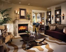 fancy brown living room with varying shades of chocolate living