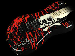 charvel warren demartini signed skull electric guitar groovy