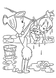 pebbles had washed coloring pages for kids printable free