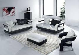 Endearing Modern Living Room Sets Harmony Leather Sofa Setjpg - Black modern living room sets