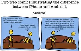 difference between iphone and android the difference between android and iphone the sue