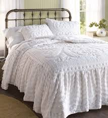 flourish skirted chenille bedspread king possible presents