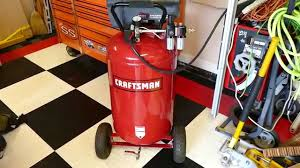 craftsman 33 gallon compressor rodded youtube