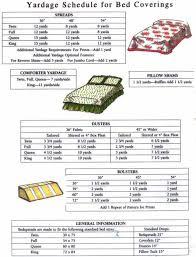 Upholstery Yardage Chart Bedding Yardage Chart Sewing Tips Tutorials Pinterest