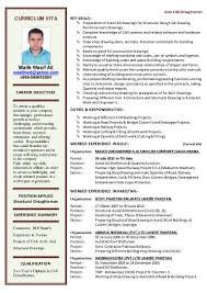 Job Resume Key Qualifications by Cv For Autocad Draftsman