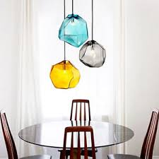 multi colored hanging lights modern multi colored glass stone shade mini pendant light 1 light