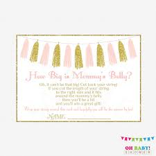 pink and gold baby shower games how big is mommys belly