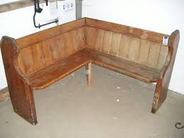 rustic simple wooden corner bench seating for images with