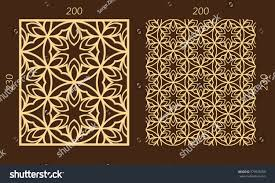 laser cutting set woodcut vector trellis stock vector 579978280