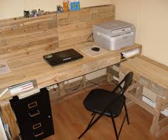 how to build a studio desk pallet projects