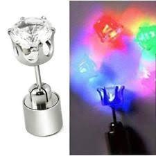 light up earring studs light up led fashion earrings ebay