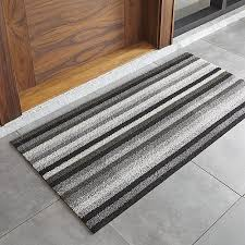 Chilewich Outdoor Rugs Chilewich Grey And Black Doormat In Door Mats Reviews Crate
