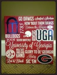 uga georgia bulldogs football go dawgs hand crafted hand painted