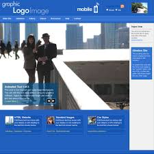 web templates park city cobalt with integrated mobile sub website