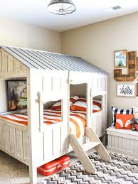 Cabin Bed Frame Rustic Cabin Adventure Room Reveal Chaotically Creative