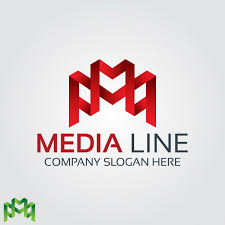 abstract red letter m logo vector free download