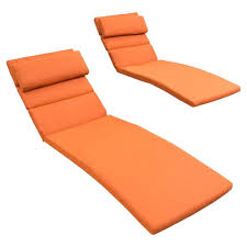 Chaise Lounge Cushions Rst Brands Tikka Orange Outdoor Chaise Lounge Cushions Set Of 2