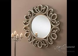 ornate silver mirror from ornamental mirrors limited
