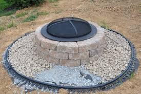 how to build a outdoor fire pit with stone home outdoor decoration