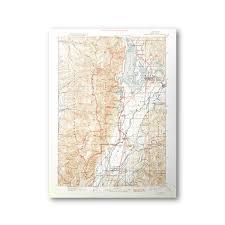 Wyoming Topo Map Grand Teton National Park 1901 Usgs Historical Topo Map U2014 Purple