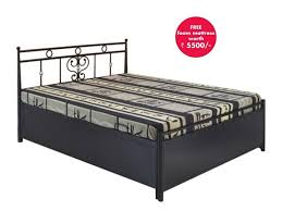 queen size hydraulic storage bed with free foam mattress buy