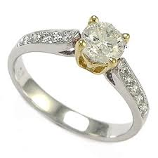 two tone gold engagement rings anzor jewelry 18k two tone white gold solitaire