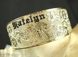 personalized bangle 22mm 14k yellow gold hawaiian custom engraved personalized
