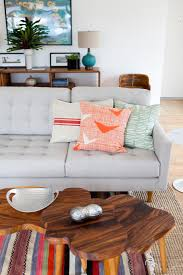 Light Grey Tufted Sofa by Centerpiece Mid Century Modern Furniture Light Grey Fabric